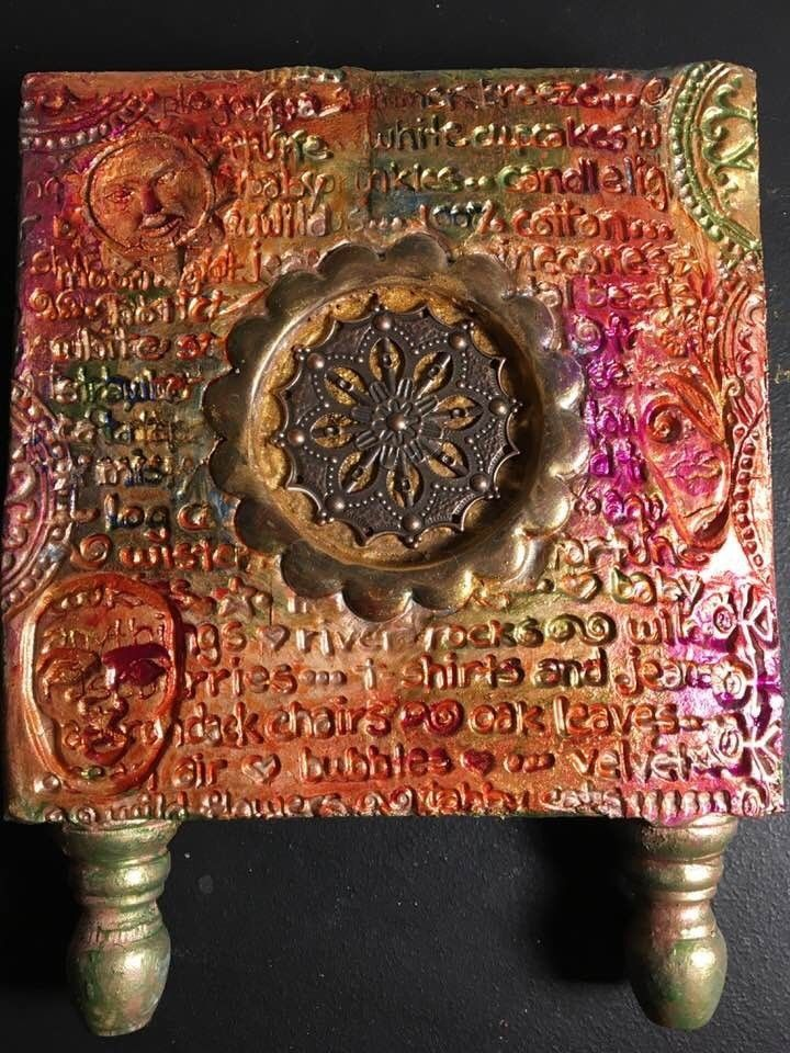 Mini Assemblage Art Shrine Mandala Meditation Home/Wall Decor Decoration  | eBay