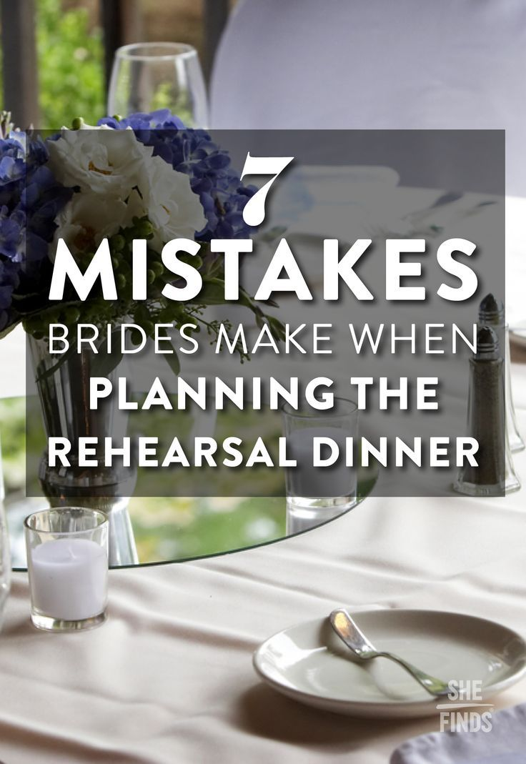 The night before the wedding is an important event where your bridal party, parents and other guests will gather to toast you before the I Dos: the rehearsal dinner. But in the middle of planning the actual wedding day, this task can often fall by the wayside. Be sure you don't make one of these eight mistakes when it comes to the rehearsal dinner.