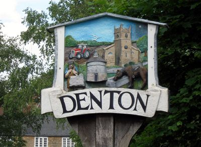 ENGLISH VILLAGE SIGNS | Denton, Northamptonshire.
