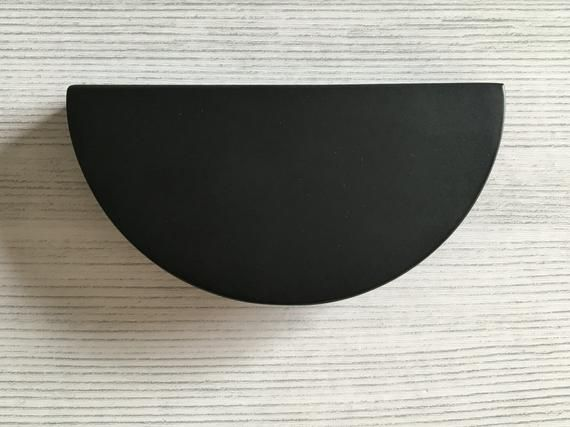 2 1 C Matt Black Drawer Pulls Half Moon Semicircle