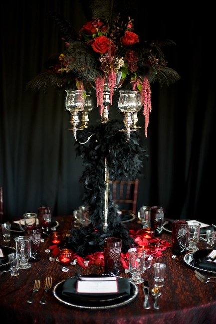 22 best Table settings images on Pinterest | Gothic wedding ...