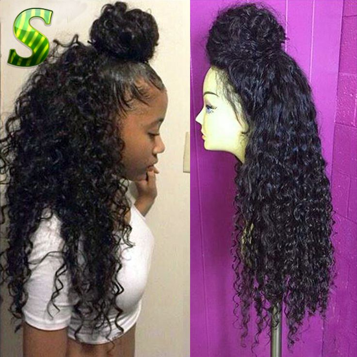 Best Glueless Full/Front Lace Human Hair Wigs Brazilian Virgin Curly Lace Front Wigs Loose Curly Full Lace Wigs For Black Women