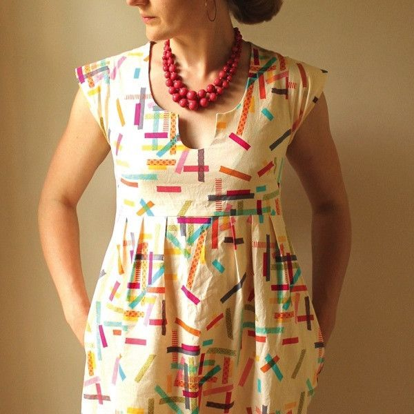 Washi Dress Sewing Pattern PDF super cute dress pattern and this designer has more options. A must have.