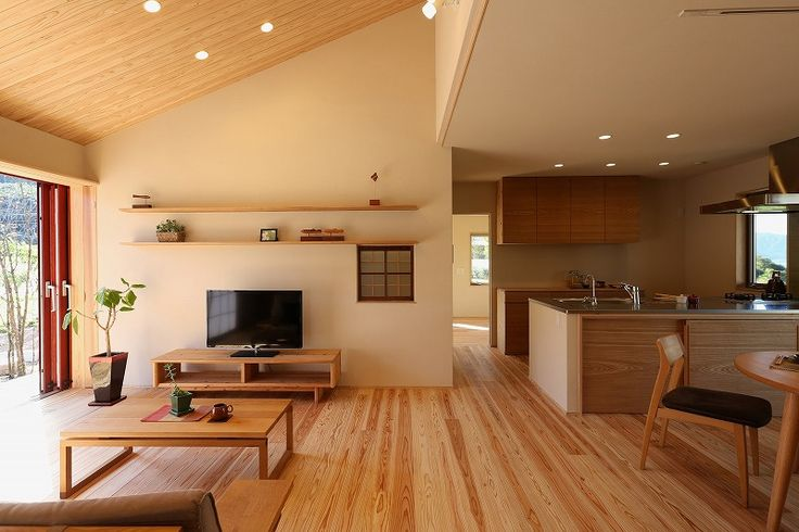 love: light wood floor, simple lines, straight lines, easy to clean