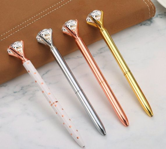 c47c2ef333 4 Diamond Pen Rose Gold Pen Gold Pen Gem Pen Diamond Top Gem Pen Crystal  Gem Pen Planner Pen Journal Pen Ink Pen Bridesmaid Gift