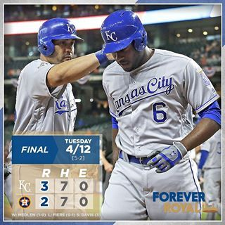 Lorenzo Cain slugs a 3-run home run to carry #Royals past the Astros. #ForeverRoyal | royals.com