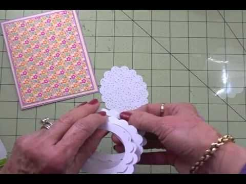 CardzTV shaker card tutorial that uses layers of paper built up for the shaker element