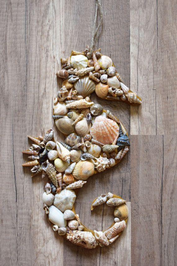 Rustic Seahorse Seashell Decor Nautical Decoration Home Decor Ocan Sea