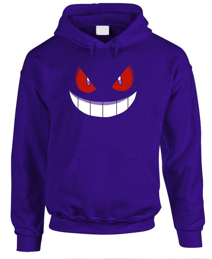 Gengar HOODIE sweatshirt hooded sweat shirt youth or adult by doodlesnicker on Etsy