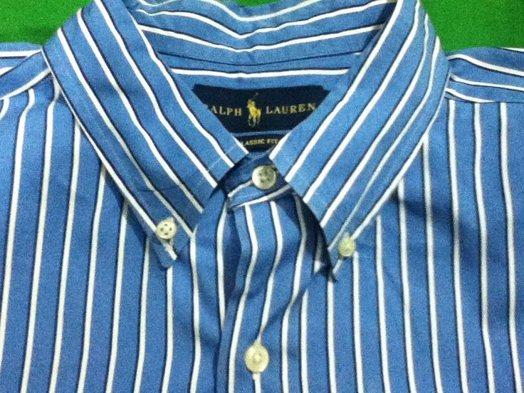 Ralph Lauren Classic Fit Button Front Shirt Light Blue Cotton Size XL in  Clothing, Shoes \u0026 Accessories, Men\u0027s Clothing, Dress Shirts