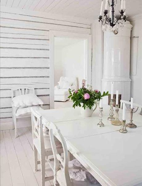 white painted floor ~ 55 Cool Shabby Chic Decorating Ideas | Shelterness