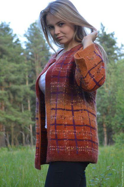 """Пиджаки, жакеты ручной работы. Жакет """"Шотландский виски"""". innashi Вязаные…"""
