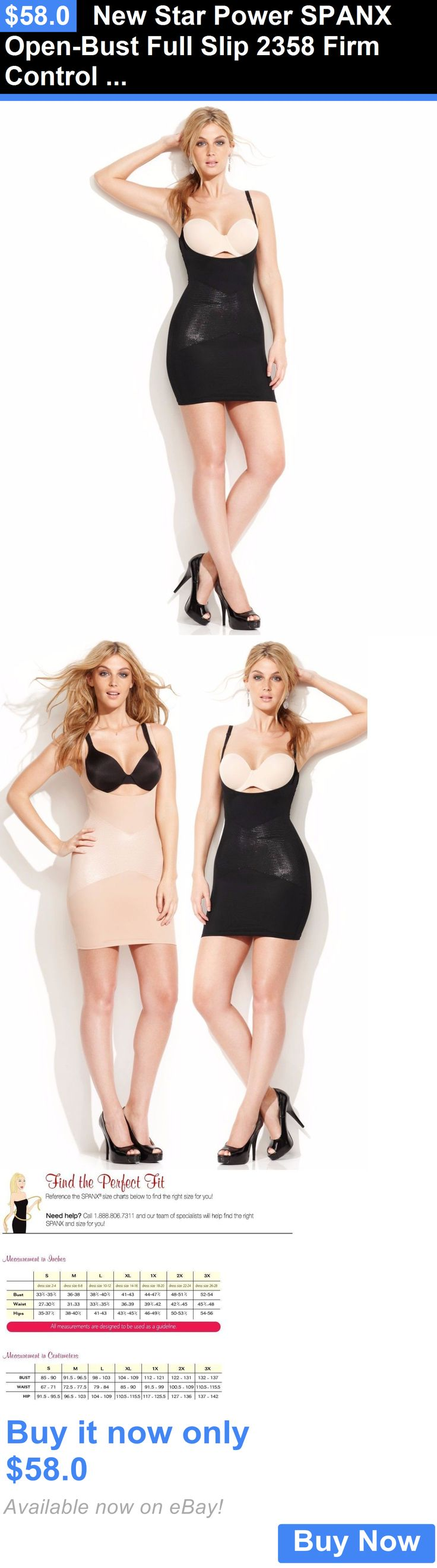 Women Shapewear: New Star Power Spanx Open-Bust Full Slip 2358 Firm Control Lady Shapewear Xl BUY IT NOW ONLY: $58.0