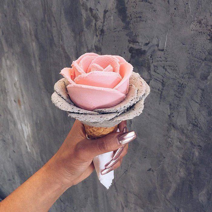 A última tendência são as flores de sorvete, melhor do que flores reais!