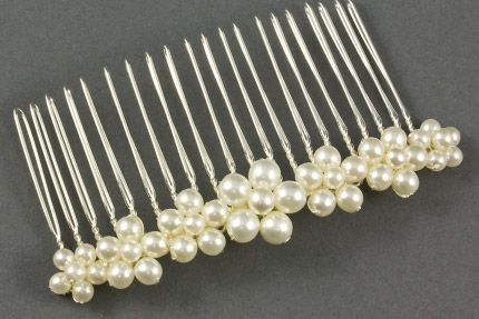 Forget Me Not Pearl Floral Wedding Hair Comb