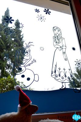 Plotterliebe am Freitag - mit dem Plotter Anna und Elsa ans Fenster zaubern - Tintenelfe Blog