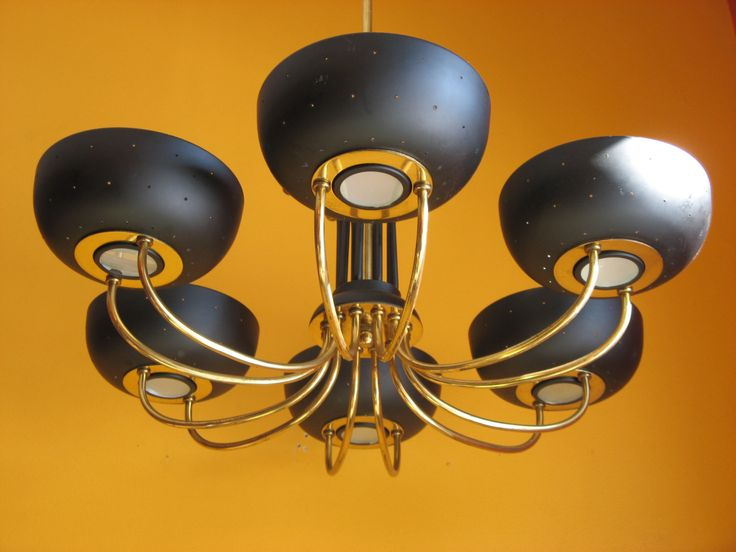 Vintage Mid-Century Modernist SPUTNIK STILNOVO Era Ceiling Lamp Chandelier by artfromA2B on Etsy