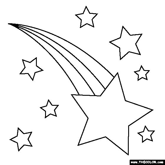 Star Template | Planets Online Coloring Pages