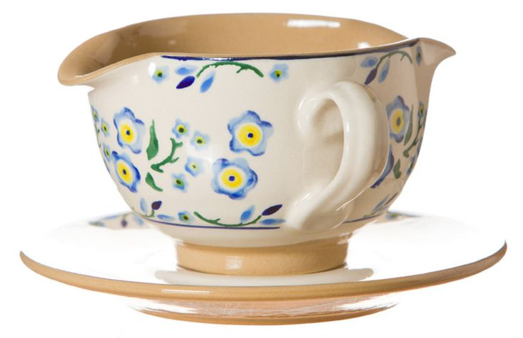 Gravy Boat & Saucer Forget Me Not
