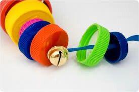 String bottle caps together