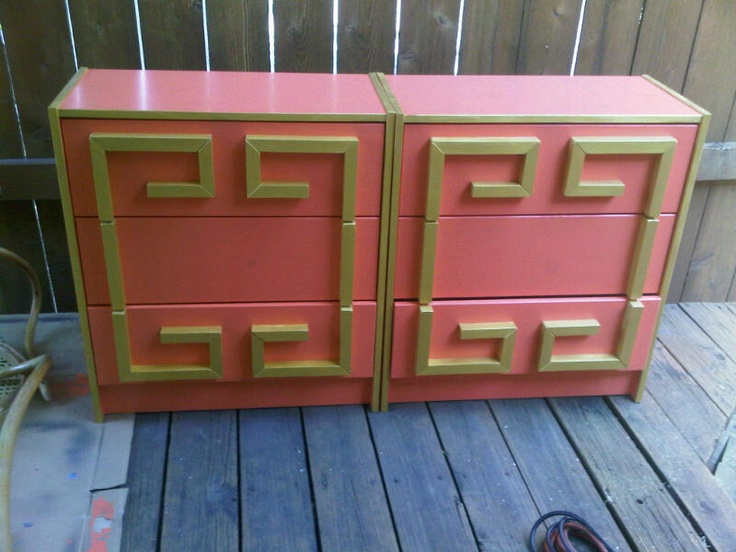 AFTER Greek Key Chests. These Were Supposed To Be Color Matched To Tory  Burch Orange