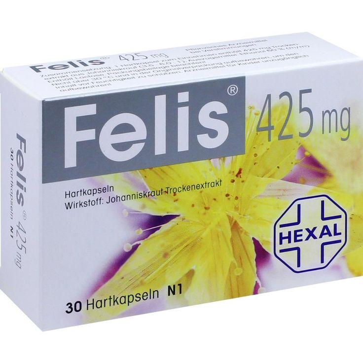 FELIS 425 Hartkapseln: Felis 425mg Johanniskraut Kapseln wirken stimmungsaufhellend bei depressiver Verstimmung und innerer Unruhe.…