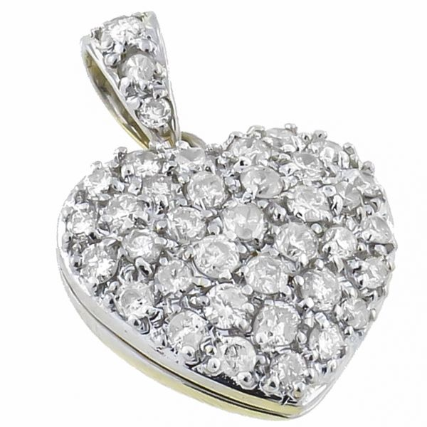 12 best necklace images on pinterest heart locket gold heart 100ct round diamond 18k yellow gold heart locket pendant see more at http mozeypictures Images