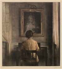 Am Spinett by Peter Vilhelm Ilsted
