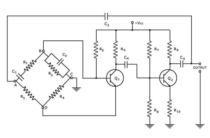 Wien Bridge Oscillator Circuit Theory and Working