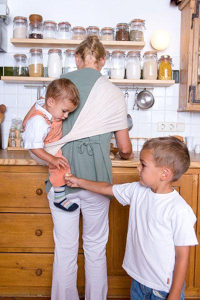 Hausarbeit mit Kind im Tuch? No problem!