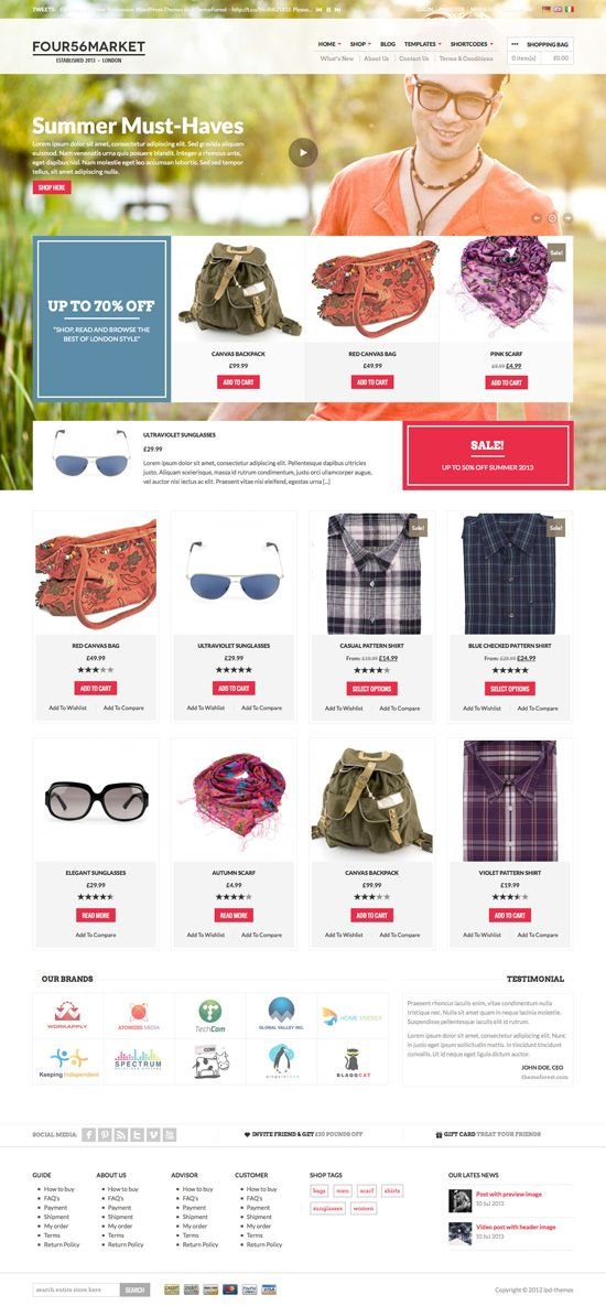 E-Commerce Web Design #ecommerce