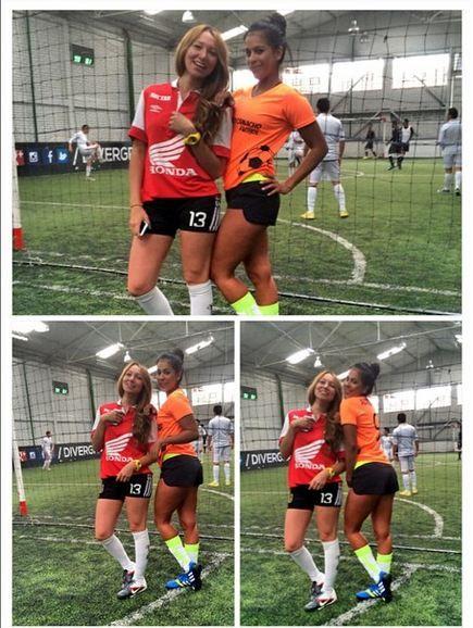 Hoy se jugó fútbol  @laotalora goleadora ⚽️