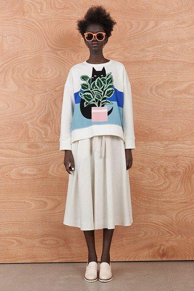 sweatshirt + circle skirt...