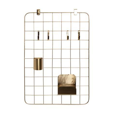 Grid Organiser Pin Board Set | Brass   #office #girlgifts www.ilkahome.com | @ilkahome