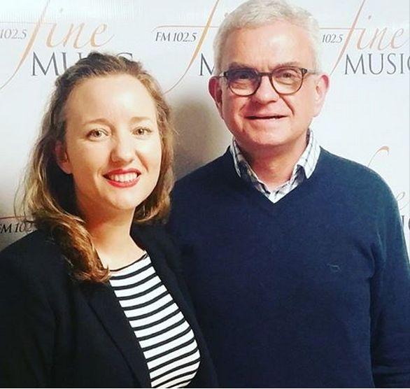 Artistic Director and Principal Violin from the The Australian Haydn Ensemble Skye McIntosh and Peter Kurti, Sept 2015