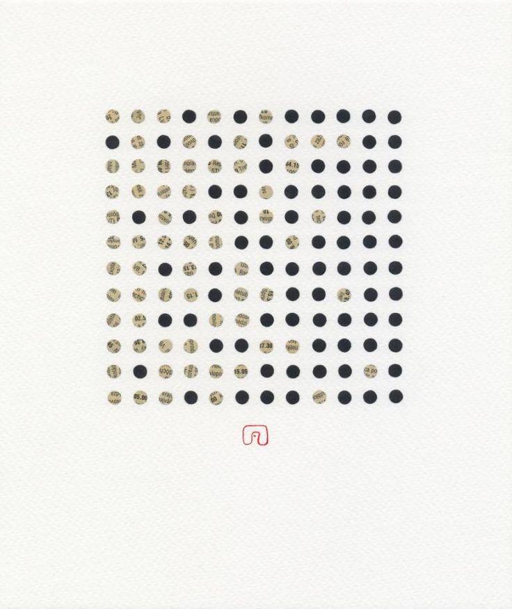 "Saatchi Art Artist Slavomir Zombek; Collage, ""BLACK & WHITE N°02-1"" #art"