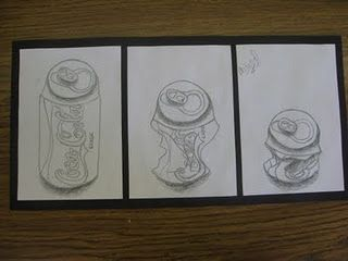 great observational drawing lesson - would do looking at pop art and do LARGE! Wayne Thiebaud research