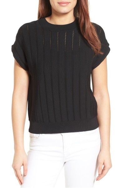 Main Image - Halogen® Textured Sweater (Regular & Petite)