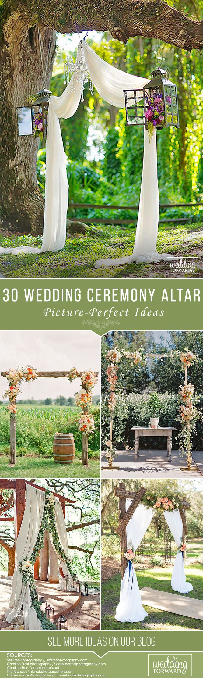 30 Picture-Perfect Wedding Ceremony Altar Ideas ❤ Altars will be remembered in pictures for years and years to come. Here are a few of our absolute favorite wedding ceremony altar ideas! Get inspire! See more: http://www.weddingforward.com/wedding-ceremony-altar-ideas/ #weddings #decoration #bridaldecorations #weddingceremonyaltarideas