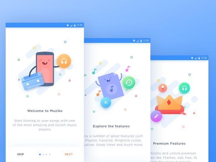 Muziko Android App - Onboarding by Ghani Pradita