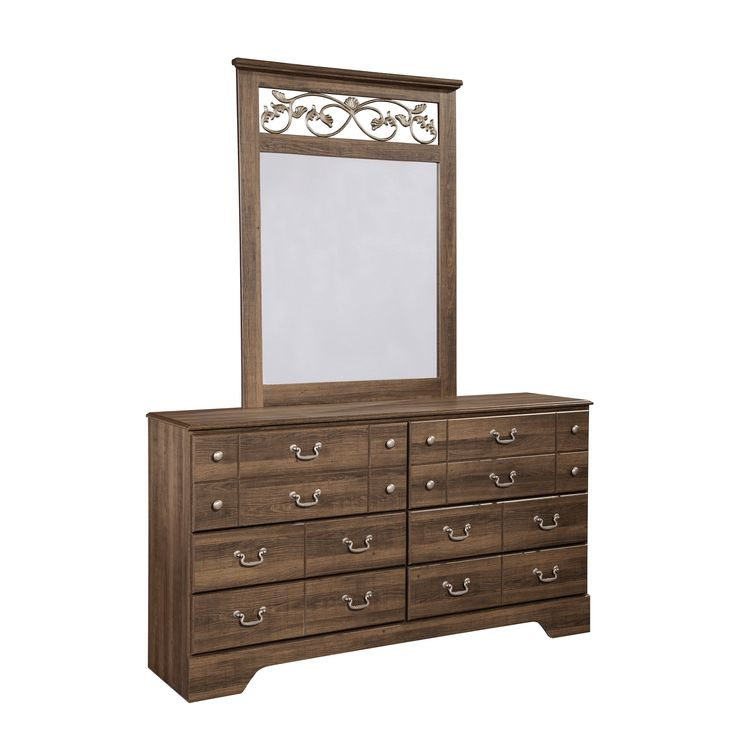 Signature Design by Ashley 'Allymore' Vintage Dresser and Mirror Set