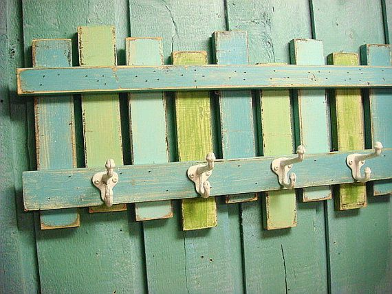 Beach Fence Hook Rack Coat Rack Beach House Decor on Etsy, $49.00