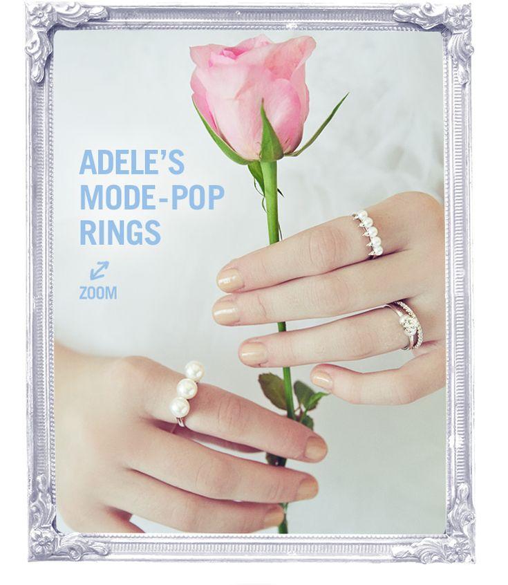 ADELE'S MODE-POP RINGS