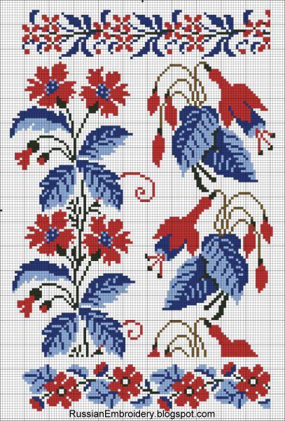 """Старинные схемы для вышивки: Цветочные орнаменты от Т-ва """"А.Сиу и Ко"""""""