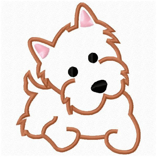 Sweet Puppy Dog Machine Embroidery Design by thewhimsybelle, $2.99