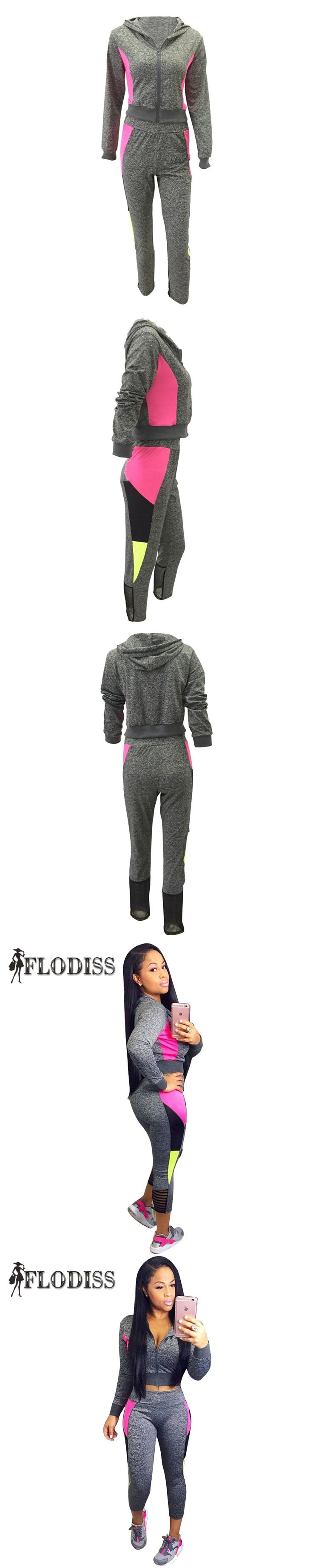 FLODISS 2017 Autumn Winter Women Hoodies+Calf-Length Pants 2 Piece Set Sportsuit Casual Cotton Tracksuit ropa deportiva mujer