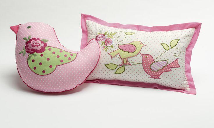 Shabby Chich decorative cushions   #girlsbedroom #birdie #pink