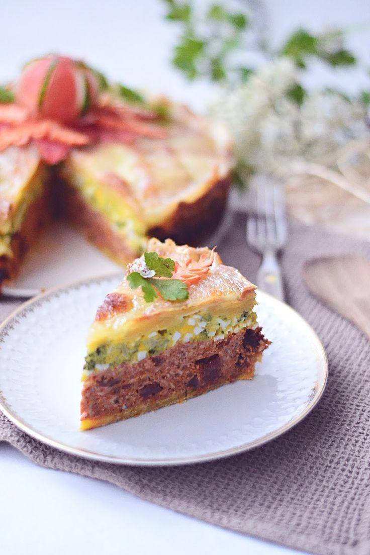 ~~Kuchnia Paulettes~~: WYTRAWNY TORT Z WOŁOWINĄ, BROKUŁEM I JAJKIEM