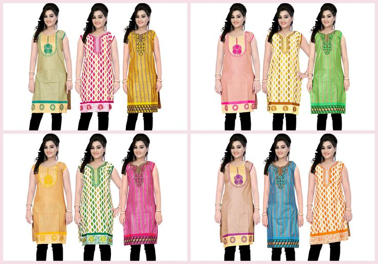 """Available New collection... Combo of 3 Cotton Kurtis @449/- only.. click to view.. http://gargfashion.com/Indian-Wear/Combo-Kurtis-c110c75.html for more inquiry... Whatsapp us on - """"7046181337"""" Mail id - info@gargfashion.com"""