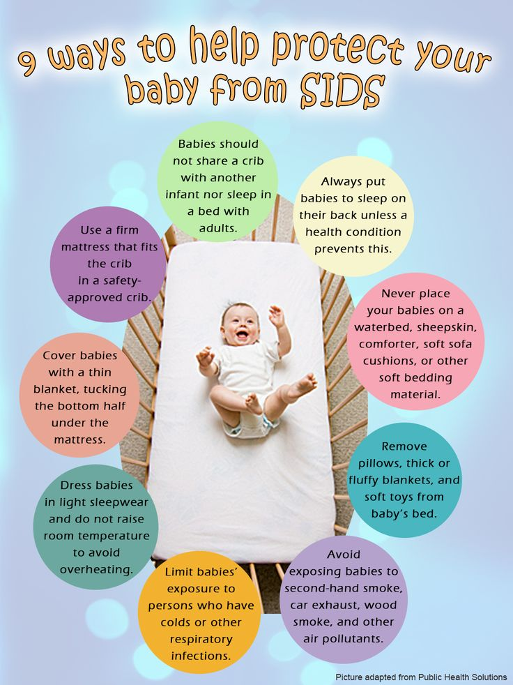 9 ways to protect your baby from Sudden Infant Death Syndrome.   Sudden infant death syndrome (SIDS) is the unexplained death, usually during sleep, of a seemingly healthy baby less than a year old. SIDS is sometimes known as crib death because the infants often die in their cribs. http://askdrorie.com/